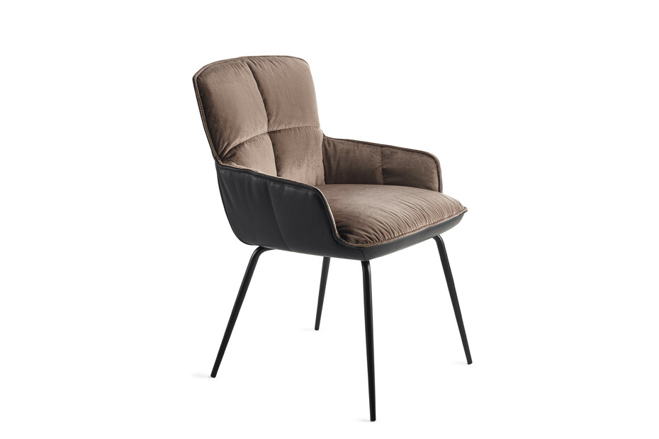 Marla armchair low with steel frame