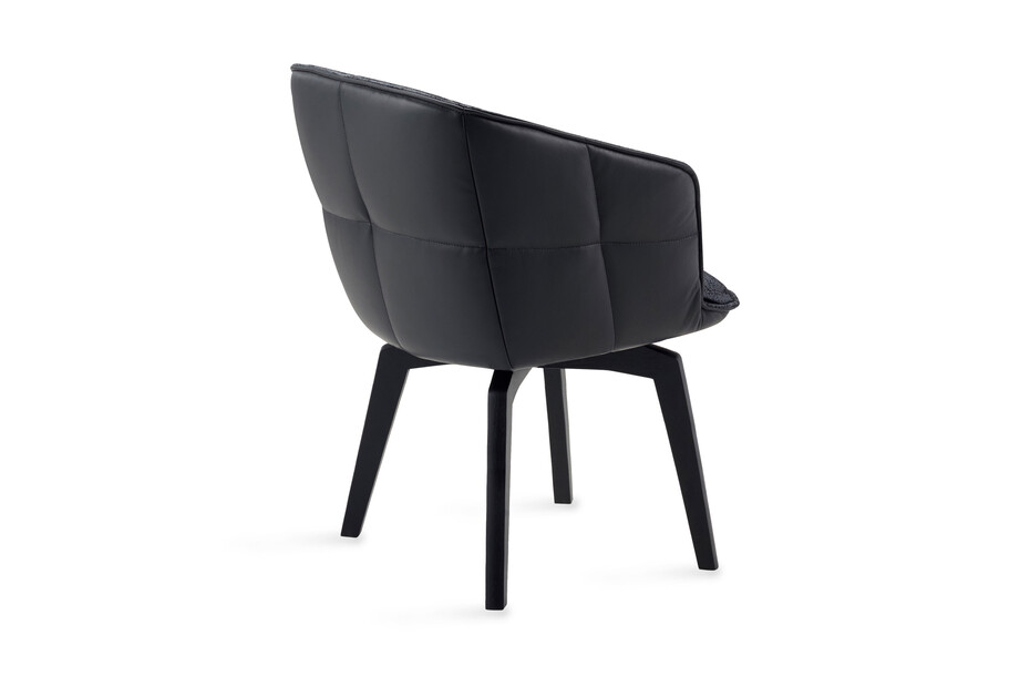 Marla armchair high with wooden frame and auto-return mechanism