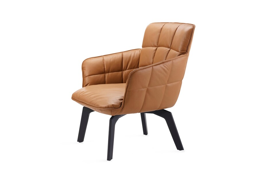 Marla easy chair low with wooden frame