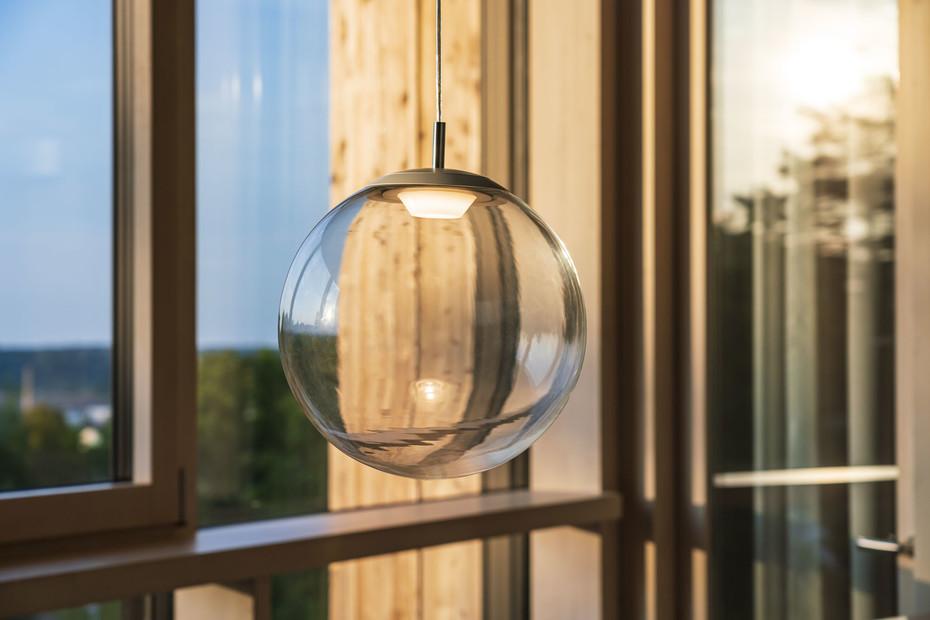 glaskugelleuchte ku3 LED clear
