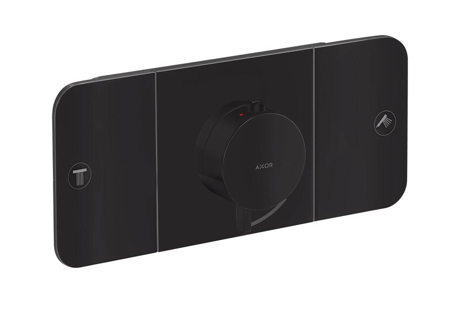 AXOR One Thermostatmodul Unterputz für 2 Verbraucher Mattschwarz