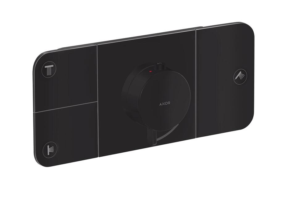 AXOR One Thermostatmodul Unterputz für 3 Verbraucher Mattschwarz