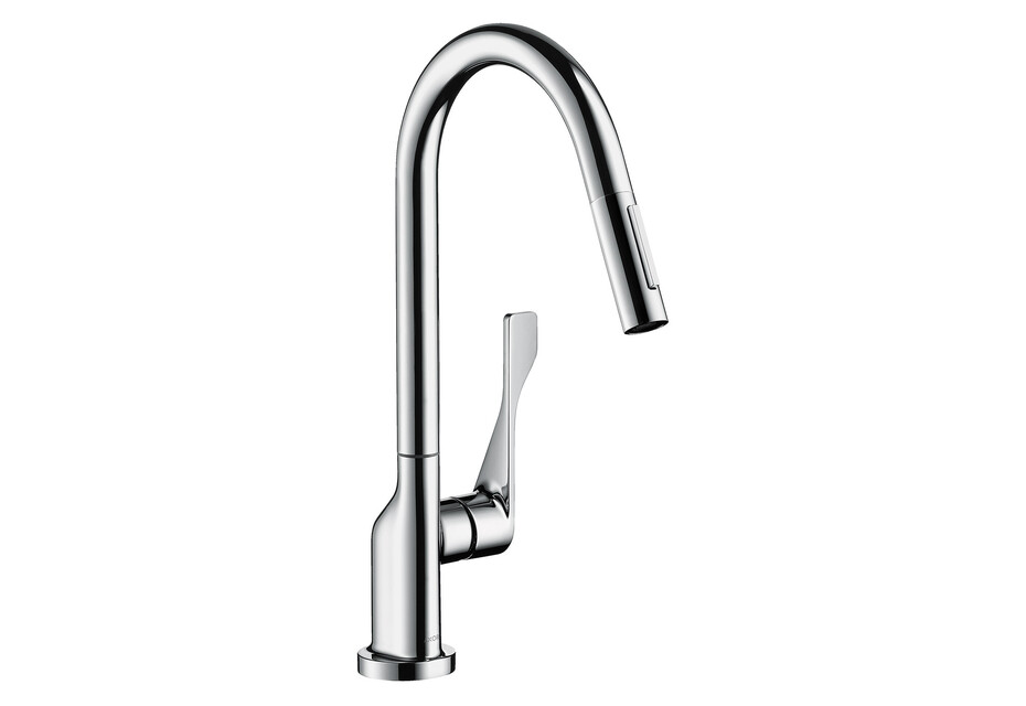 AXOR Citterio Single lever kitchen mixer 250 with pull-out spray Brushed Black Chrome