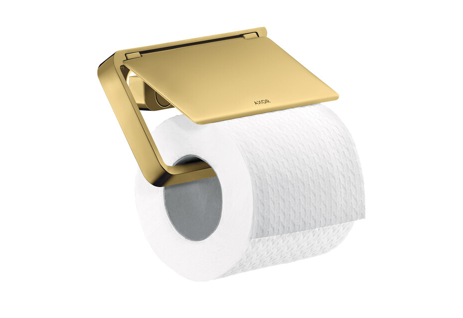 AXOR Universal Accessories Roll holder with cover Polished Gold Optic