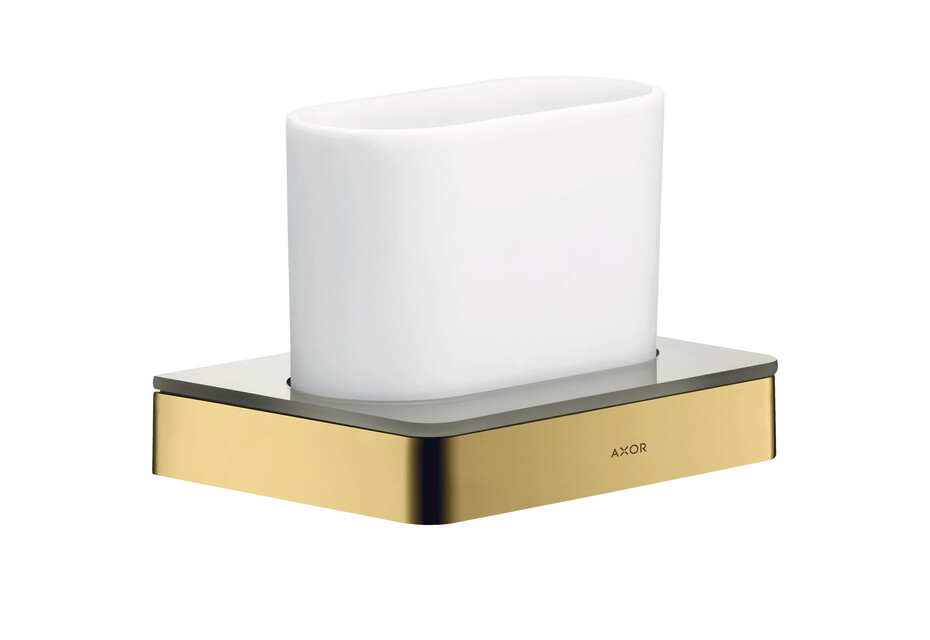 AXOR Universal Accessories Toothbrush tumbler Polished Gold Optic