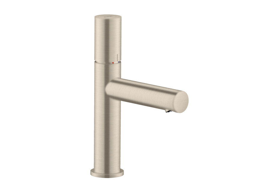 AXOR Uno Single lever basin mixer 110 with zero handle and waste set Brushed Nickel