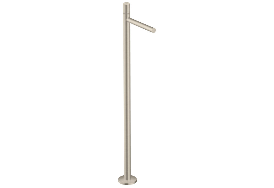 AXOR Uno Single lever basin mixer floor-standing with zero handle without waste set brushed nickel
