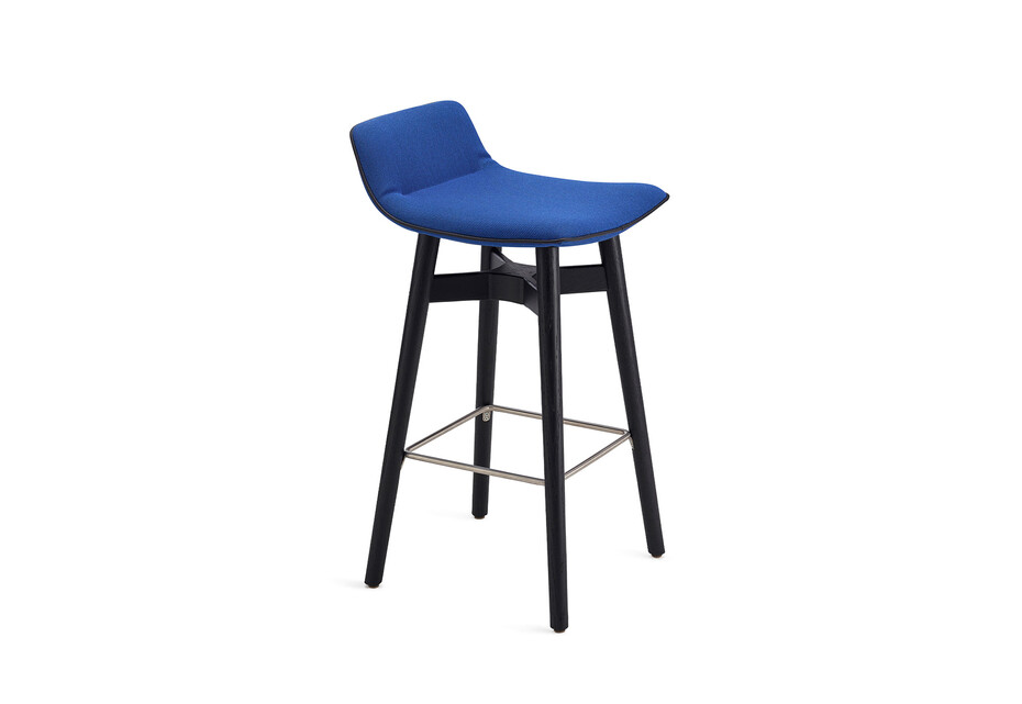 Amelie counter stool low with wooden frame
