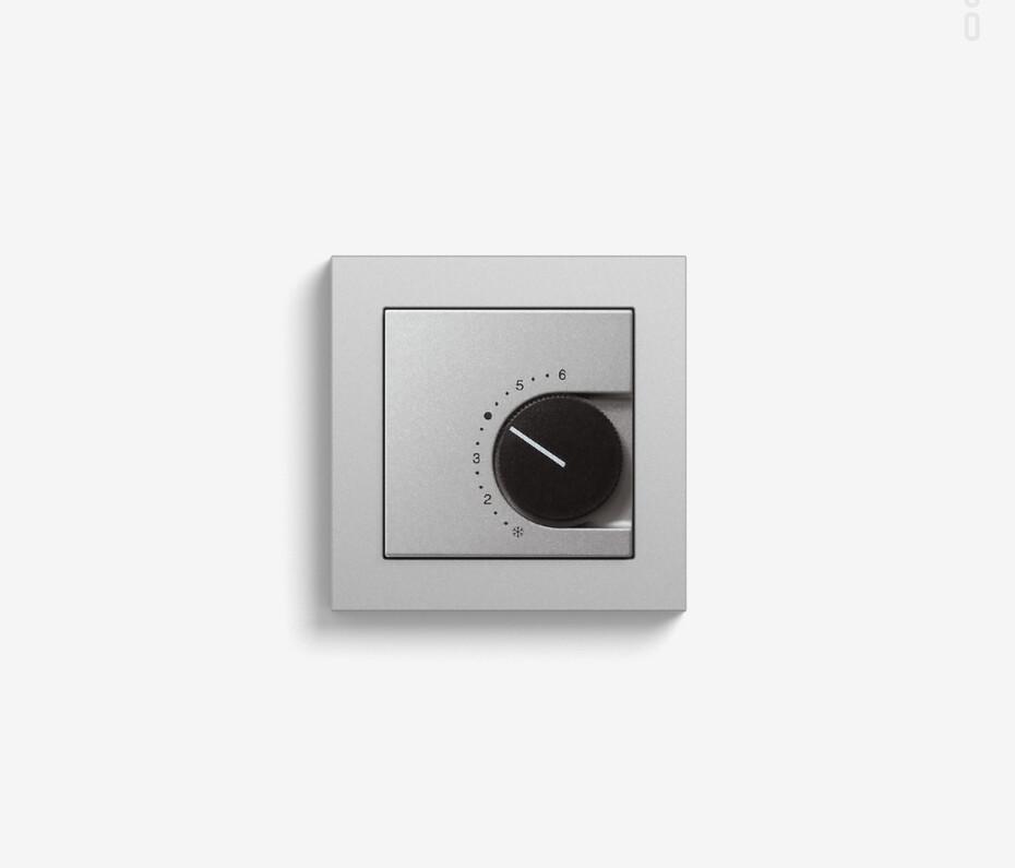 Room temperature controller colour aluminium (including E2)