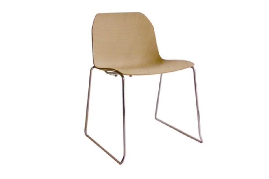 Treccia wood slide chair