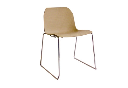 Treccia wood slide chair