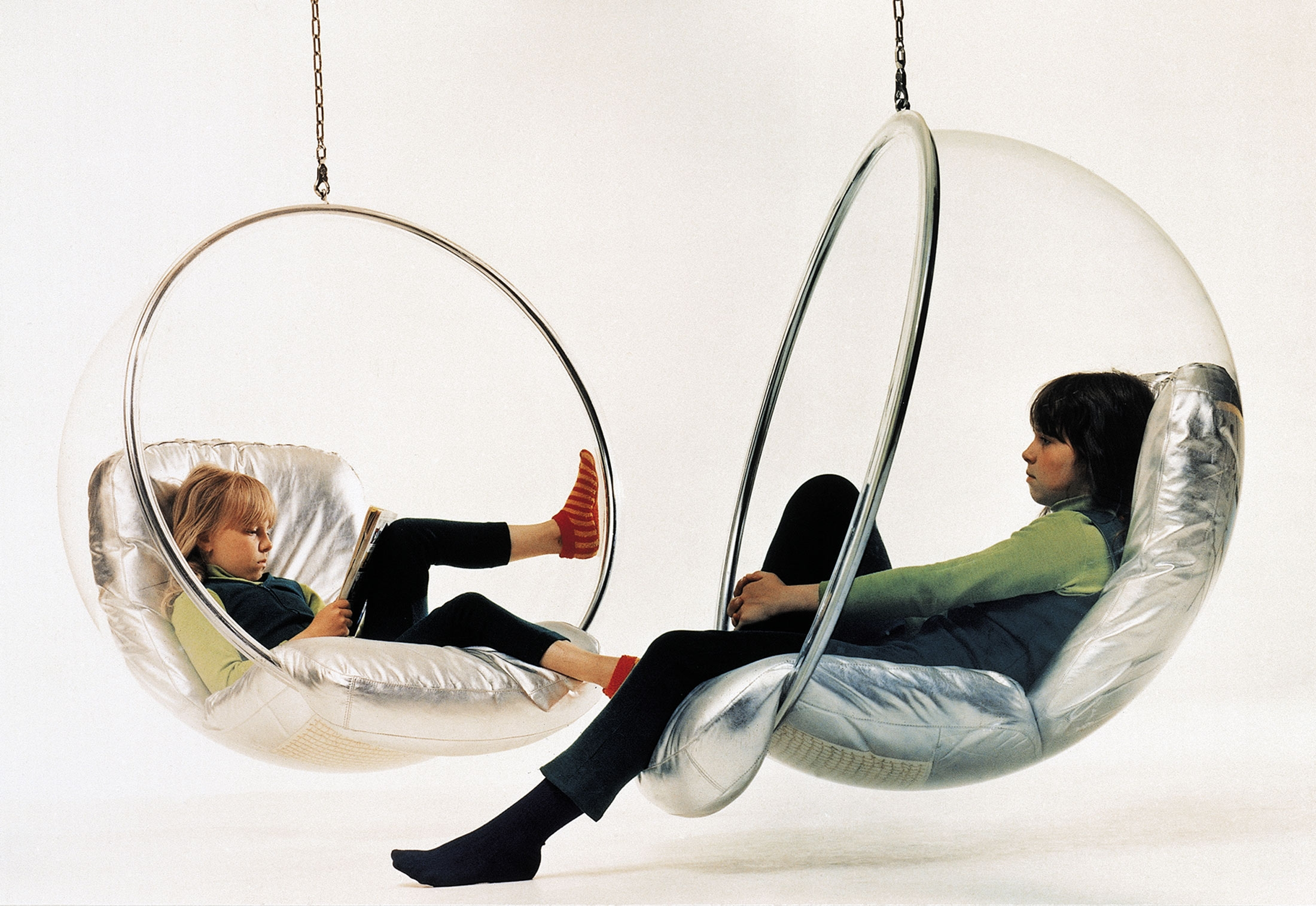cushions made chair by hanging bubble uk adelta design armchair prod clear silver in