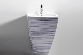 750 - washbasin decorated  by  agape