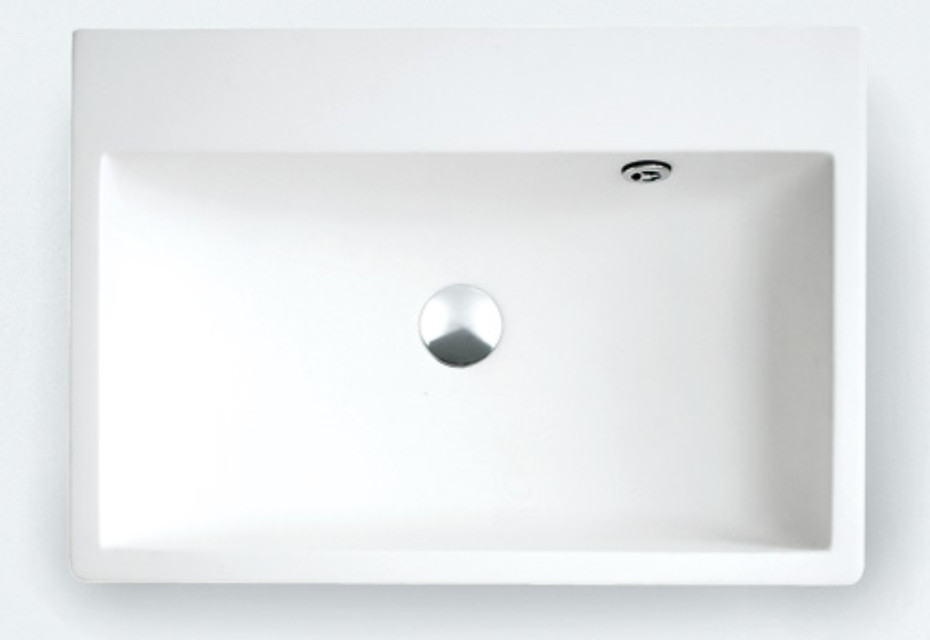 Block countertop washbasin