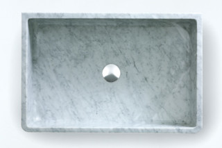 Carrara countertop washbasin  by  agape