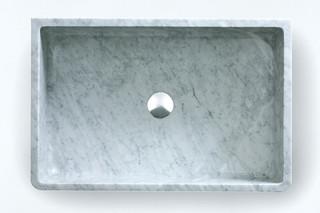 Carrara countertop washbasin  by  agape
