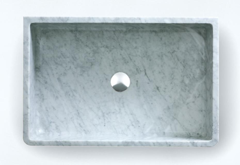 Carrara countertop washbasin