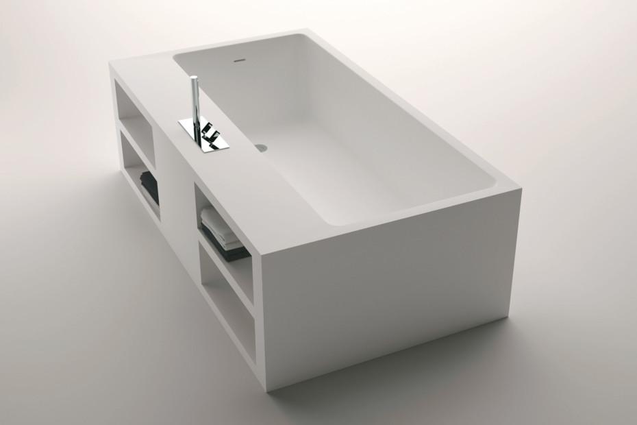 Cartesio free standing with shelfs