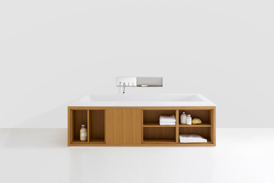 Cartesio free standing with shelfs