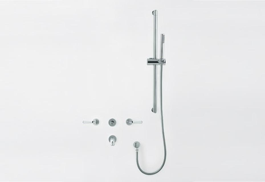 Fez bathtub set with sliding bar