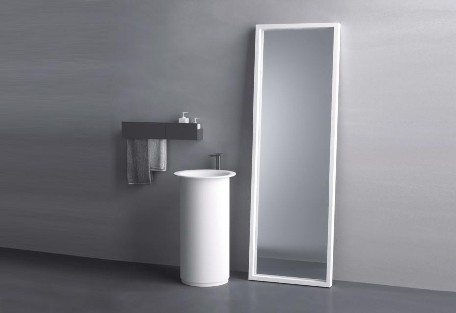 Inout washbasin free standing
