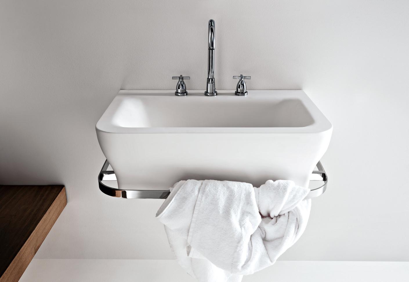 novecento waschbecken mit handtuchhalter von agape stylepark. Black Bedroom Furniture Sets. Home Design Ideas