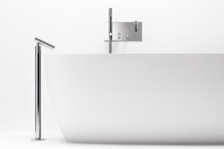 Square bathtubeset with hand-held shower and soap dispenser  by  agape