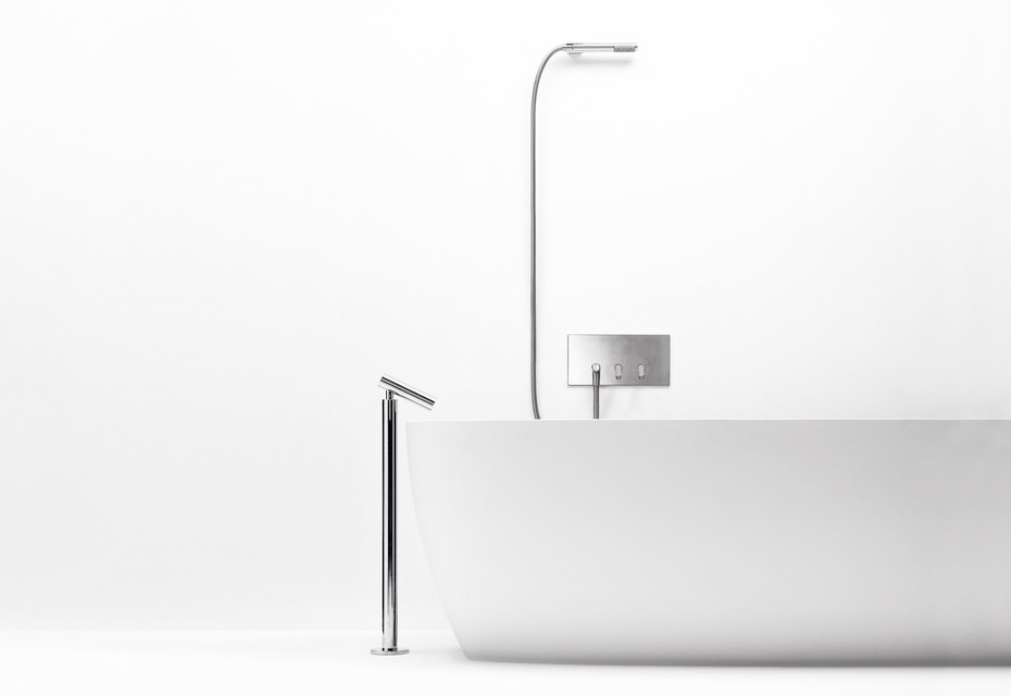 Square bathtubeset with hand-held shower