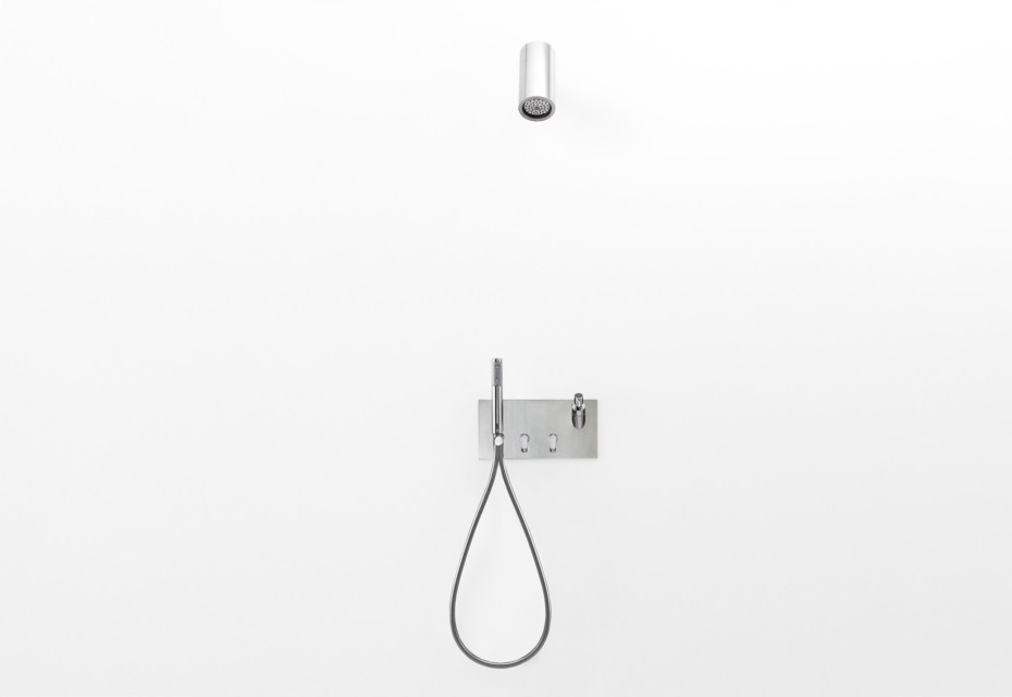 Square shower tap set with soap dispenser