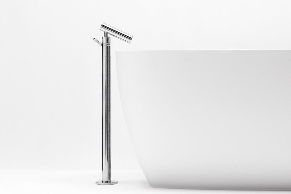 Square single lever mixer tap