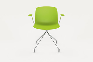 TROY swivelchair with armrests  by  Magis