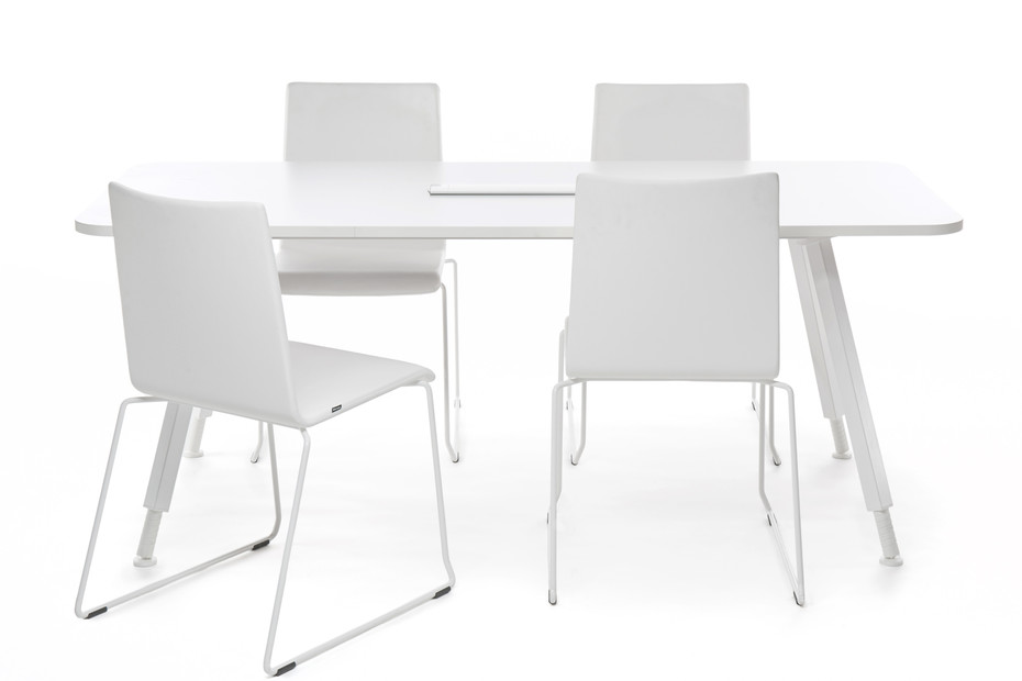 Alku conference table metal legs