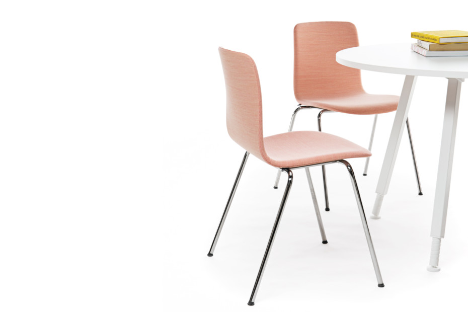 Sola chair with four leg base
