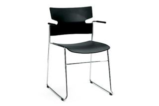 Stack with skids and armrests  by  Materia