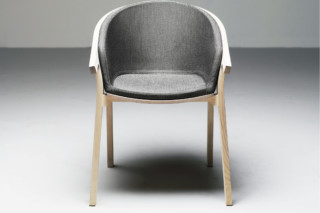 He Said Chair upholstered  by  Mattiazzi