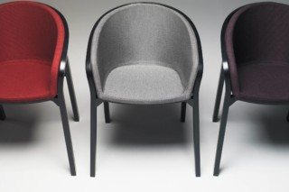 She Said Chair upholstered  by  Mattiazzi