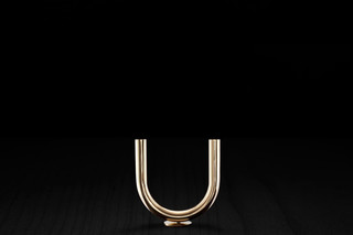U Candleholder s/s brass  by  MINIMALUX