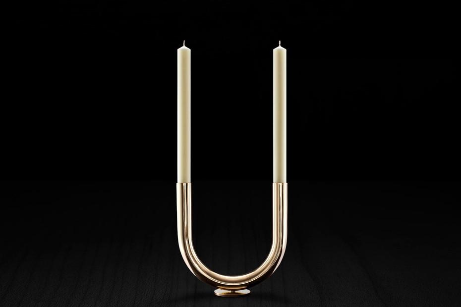 U Candleholder s/s Kupfer