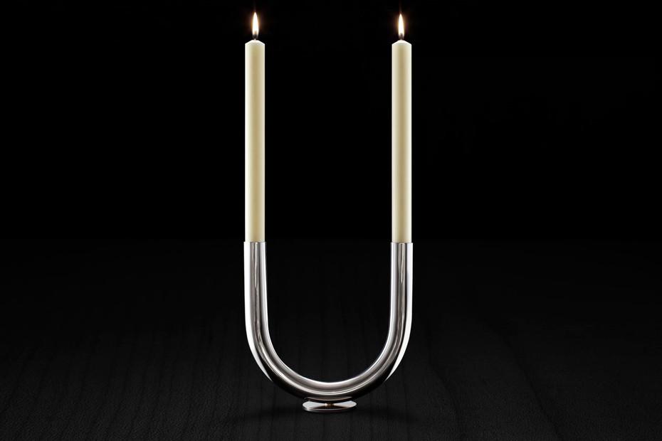 U Candleholder s/s