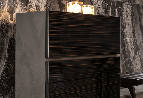 Lang cabinet by minotti stylepark for Sideboard 3 meter lang