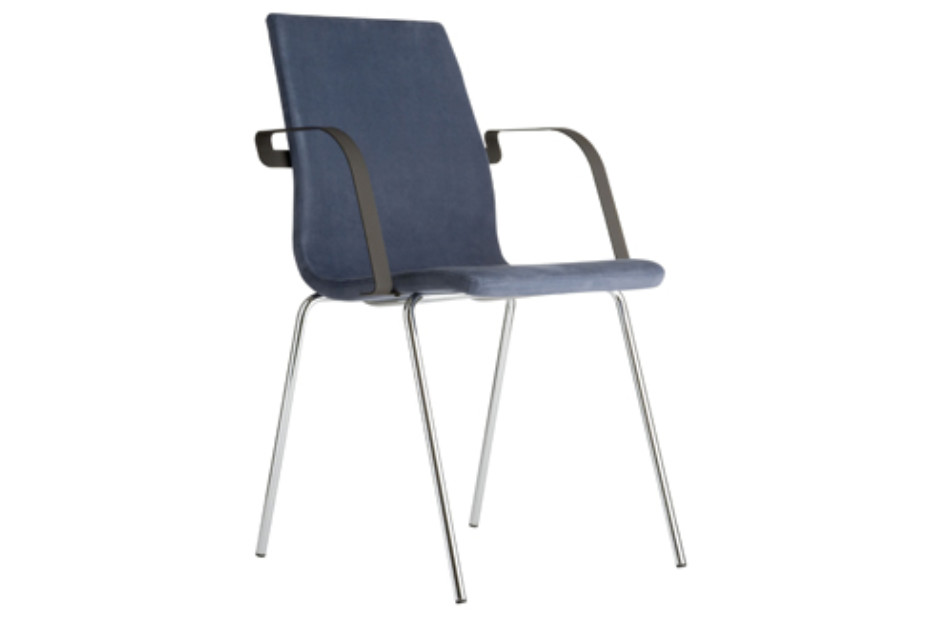 Agenda chair with armrests
