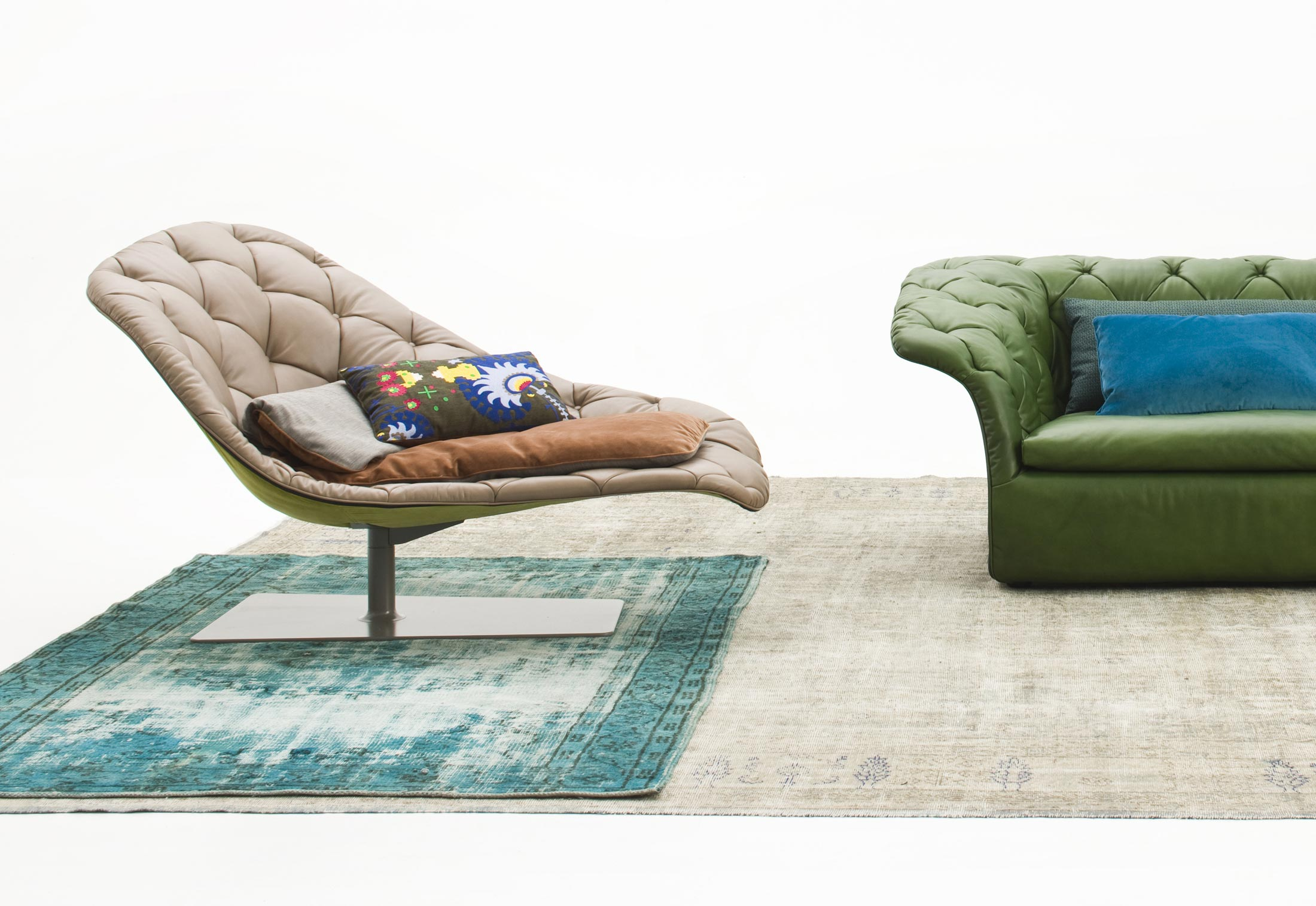 Bohemian chaise longue by moroso stylepark for Casa chaise longue