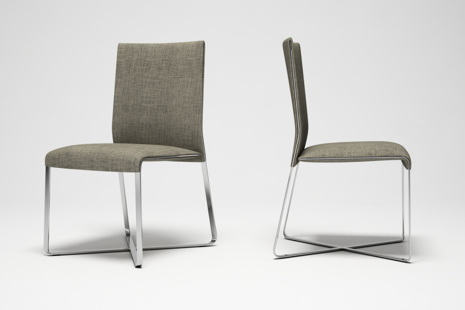 Booklet high-backed chair