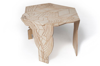 Burnt Doodle Table  by  Moroso