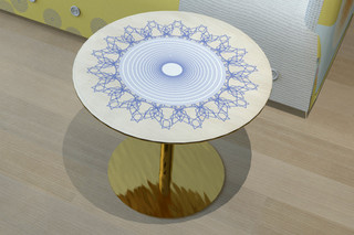 Button Down sidetable  by  Moroso