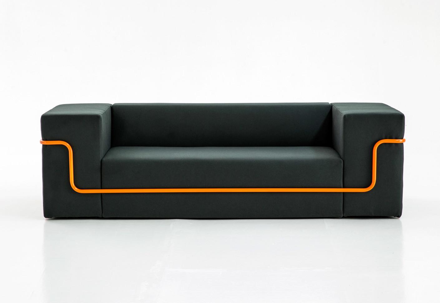 conduit sofa by moroso stylepark. Black Bedroom Furniture Sets. Home Design Ideas