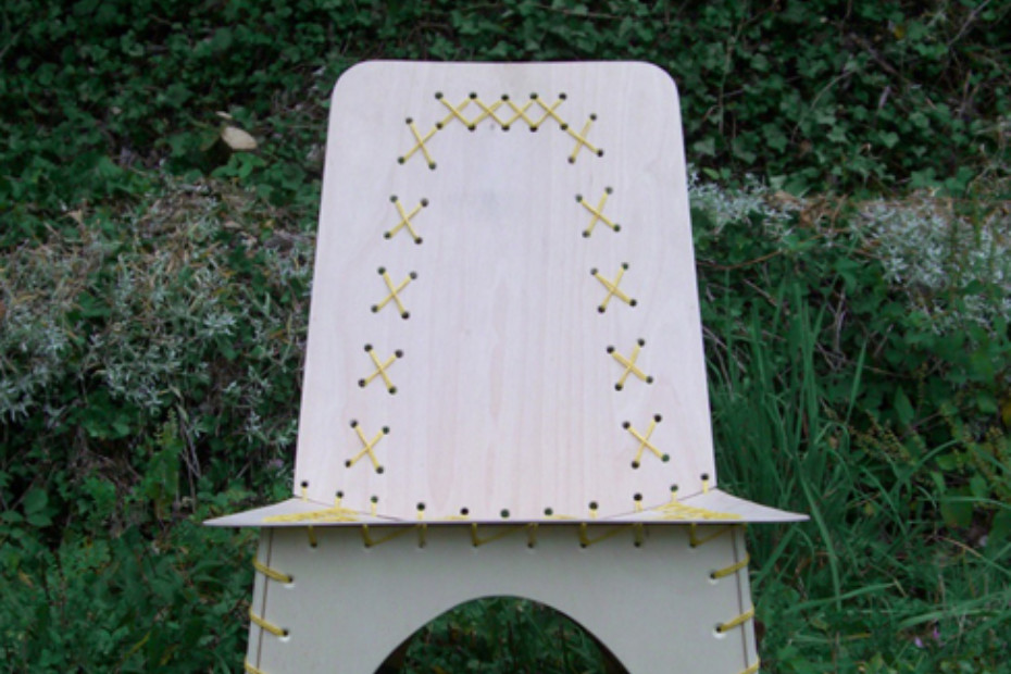Stitched easy chair