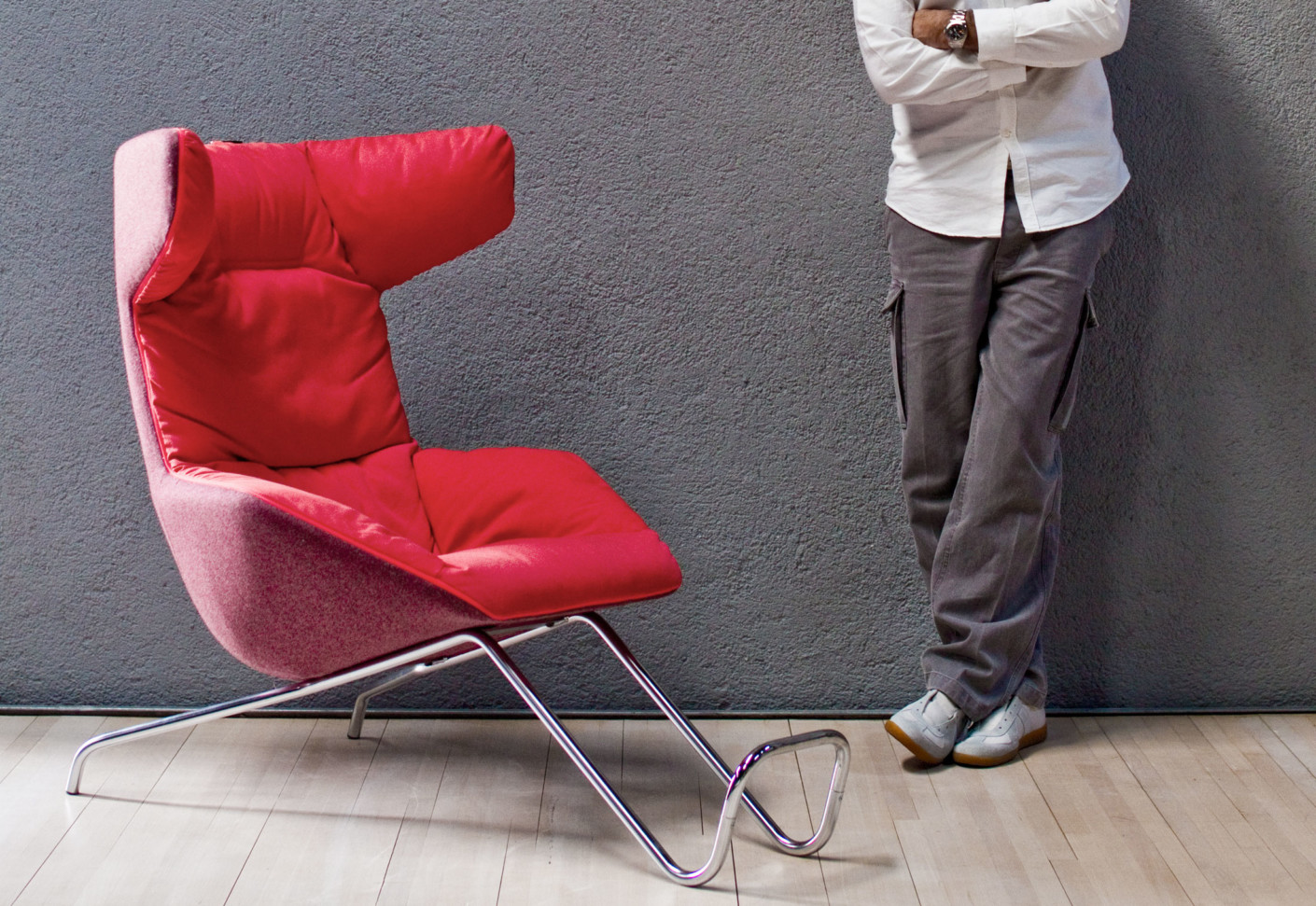 Take A Soft Line For A Walk Easy Chair By Moroso Stylepark