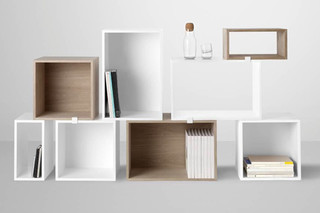 Stacked - Shelf System with backboard  by  Muuto