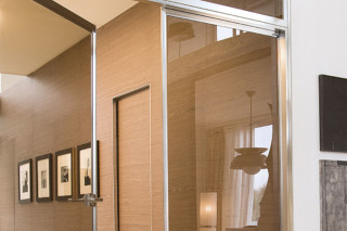 Quadra swing door for corridor  by  Albed